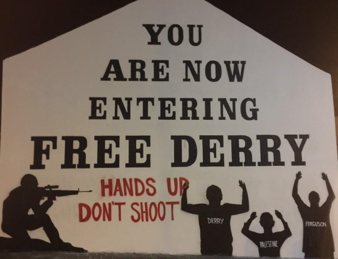 Free Derry - Hands Up Dont Shoot